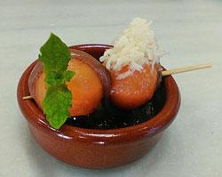 Cantaloup con anchoa SOLÉS, Ruta Tapa de la Anchoa 2016